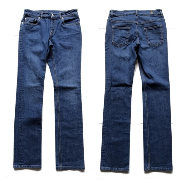 Alexander McQueen Denim - Alexander McQueen Straight Leg Jean Made in Italy